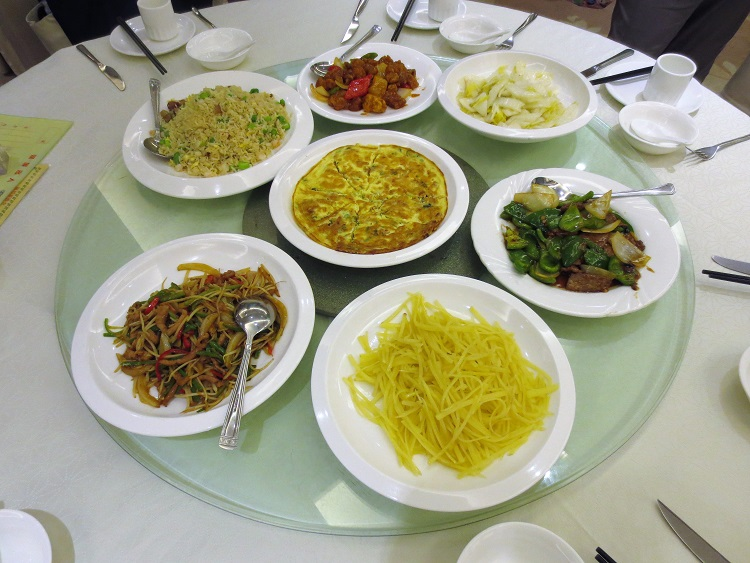 Typical Chinese food in Shenzhen China.