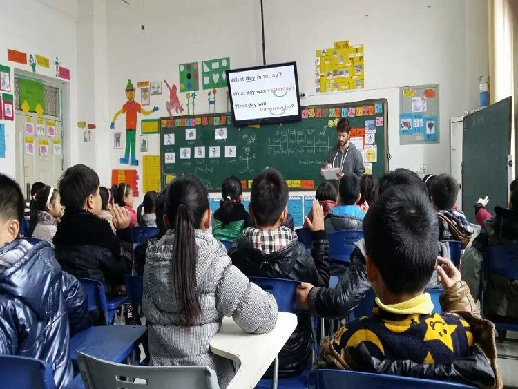 Teacher Dan's classroom in rural China.