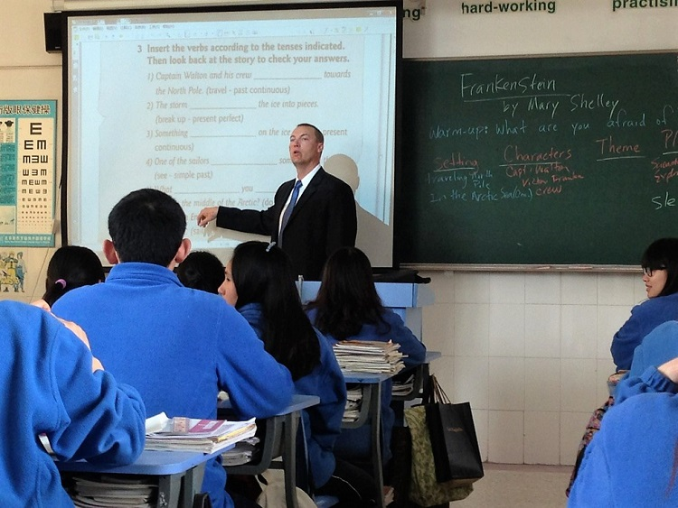 John Mandina teaching in China