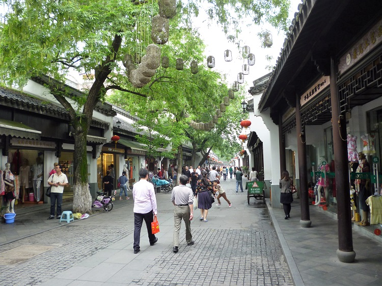 Silk street in Hangzhou China.