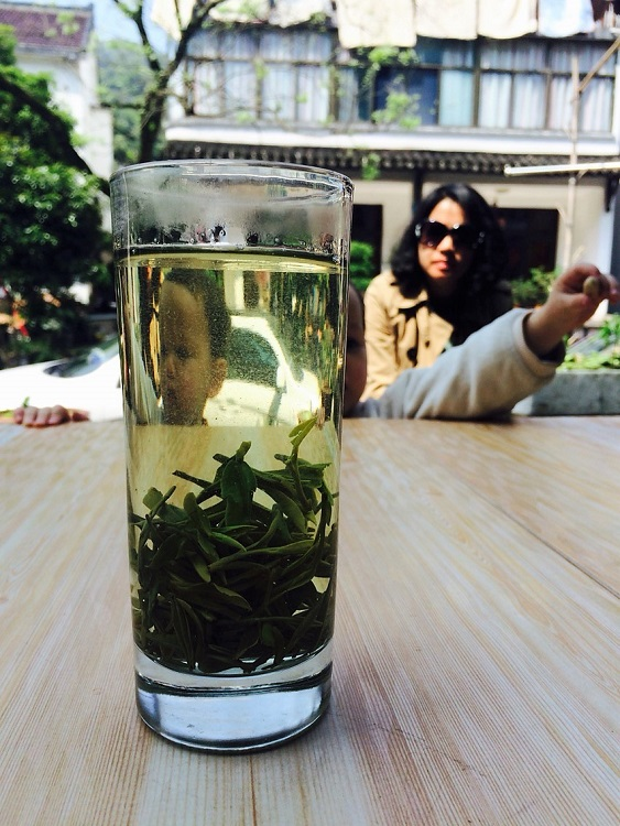 You can drink Longjing tea while teaching in China.