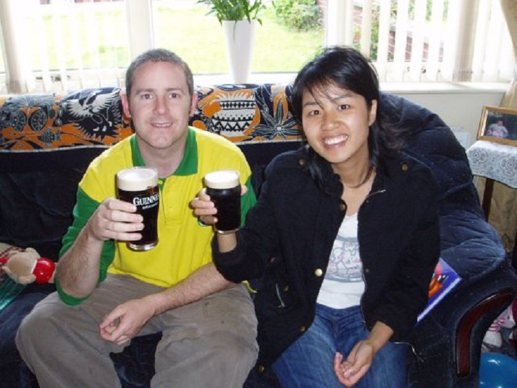 Northern Irishman Malachy Scullion met his wife while teaching English in China.