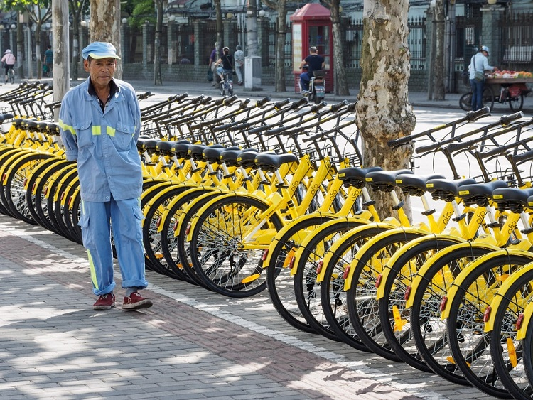 Share bikes are becoming increasingly common in China's urban areas.