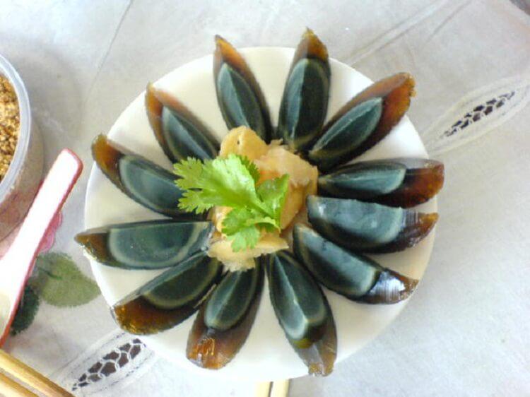 Century egg dish in China