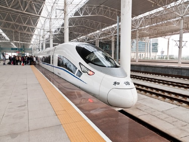 What's surprising about China is its world-class bullet trains.