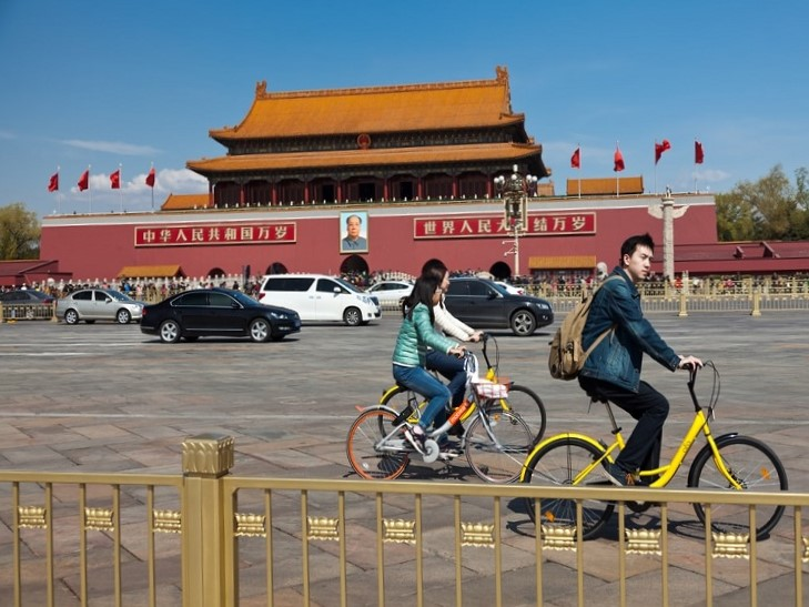 Share bikes in China