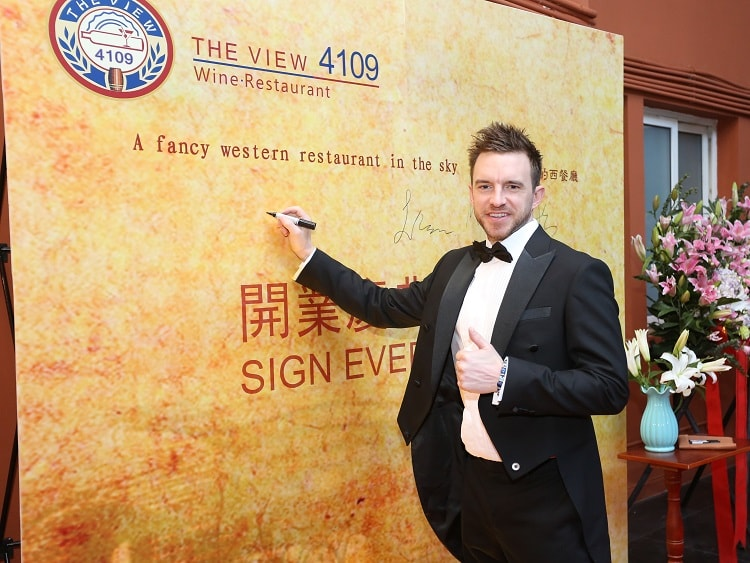 Beijing expat Preston Thomas opening up his new restaurant The View 4109