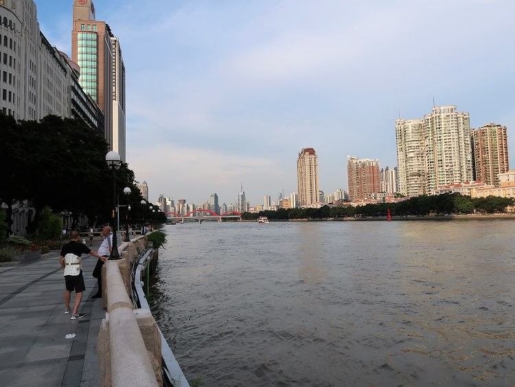 Pearl River Guangzhou China is popular with tourists