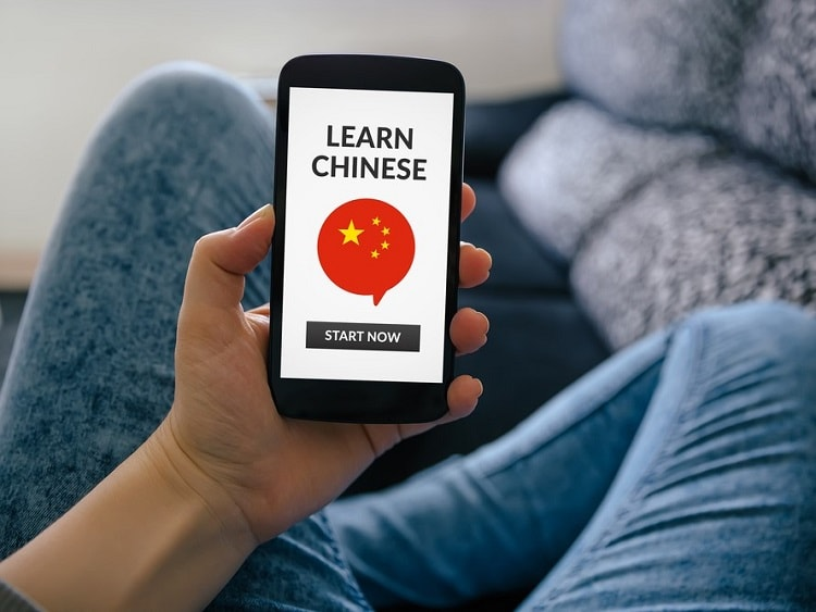 Learning Chinese on an app