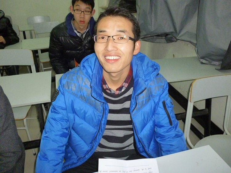 Male university student in China