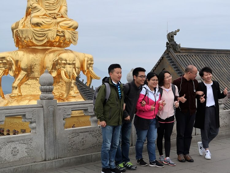 Top of Mount Emei China