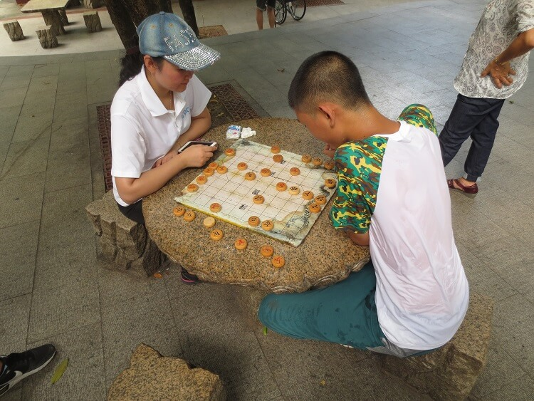 People playing chess in Shenzhen China