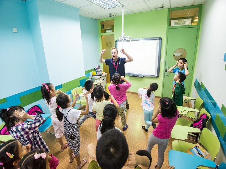Teaching in a language institute in China
