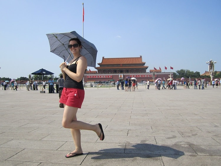 Ctrip - girl at Imperial Palace Beijing