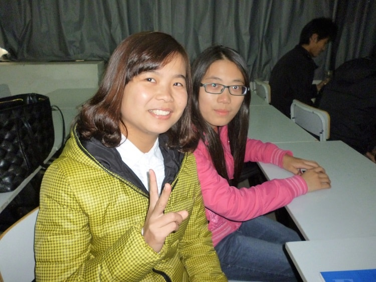 Teaching university students in China
