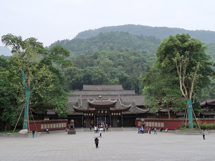 Temple at base of Mount Emei near Chengdu