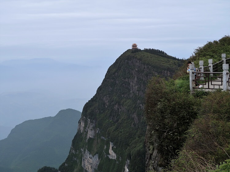View from the top of Mount Emei China