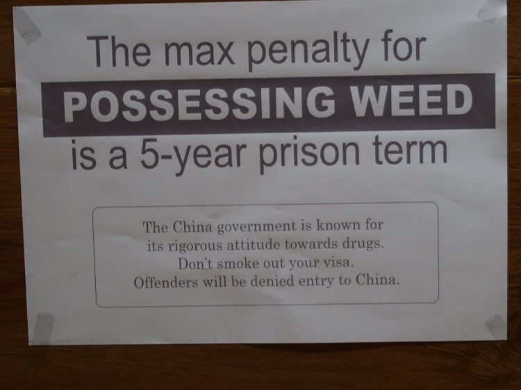 Do not do drugs while teaching in China