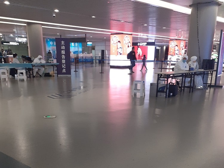 Health screening at Harbin Airport