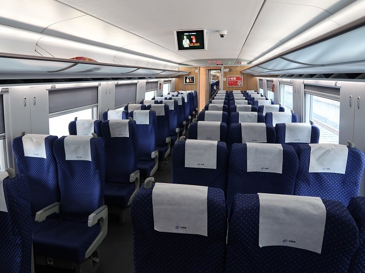 Empty train in China due to coronavirus