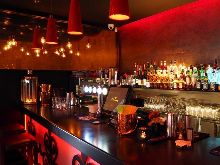 Expat bar in China