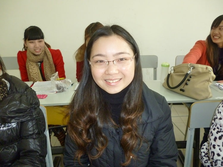 Female Chinese postgraduate student