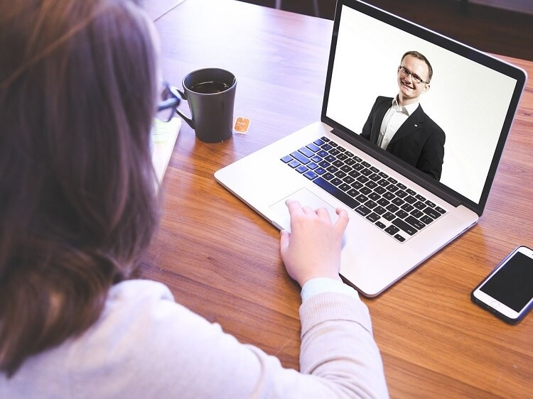 Recruiter interviewing a candidate virtually to teach in China