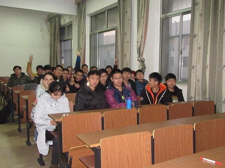Big class size at Chinese university