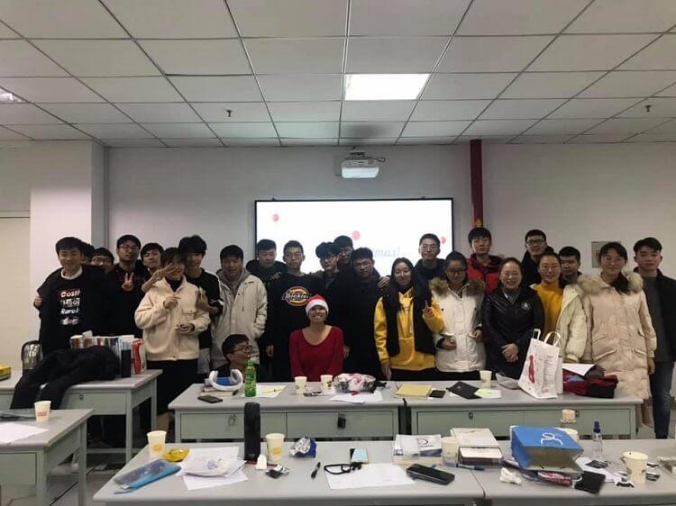 Chinese university class
