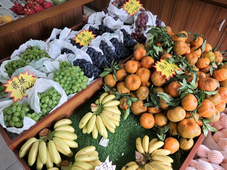 Fruit for sale in China