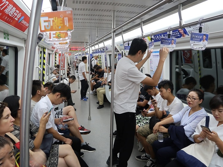 Catching the subway is one of many transport modes in China