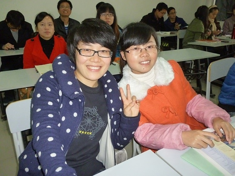 Teaching English to university students in China