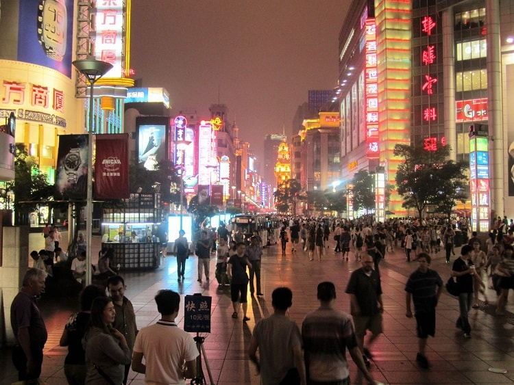 Chinese cities to teach in